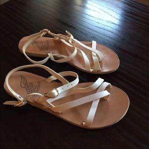 Ancient Greek Sandals Shoes - Ancient Greek Sandals, white, size 39