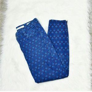 Jones New York Pants - Jones New York Blue Print Capris