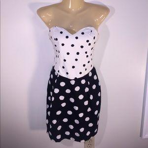 Motel Rocks Dresses & Skirts - Motel Rocks Small Strapless Black & White Dress