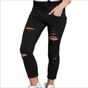 Pants - Fashion Pants Women Denim Skinny Cut Pencil Pants