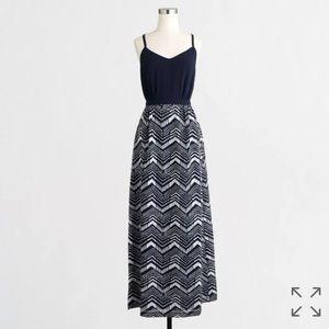 J. Crew Dresses & Skirts - J. Crew Navy Maxi Dress with Printed Skirt
