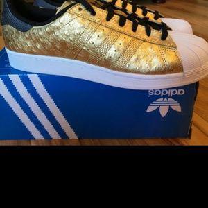 Adidas Other - Adidas Superstars Gold Metallic NWOT
