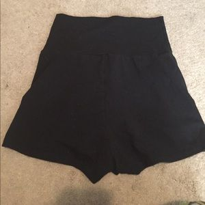American apparel high waisted black shorts