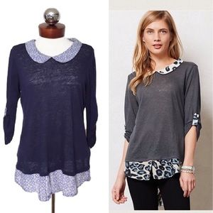 Anthropologie Tops - Anthropologie TWIG & PERCH spotted borders top