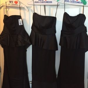 Vera Wang Dresses - Satin and matte crepe peplum dress