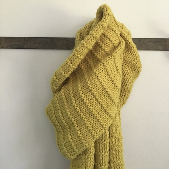 Zara Accessories - Zara Mustard Knit Scarf