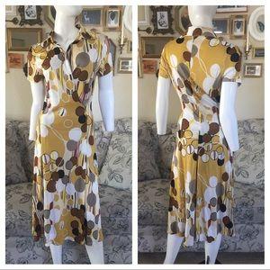 MAXMARA Printed Dress Size: 8