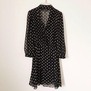 Forever 21 Dresses & Skirts - BLACK AND WHITE POLKA DOT DRESS
