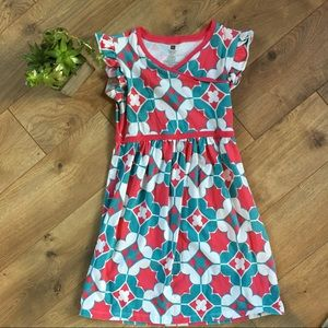 Tea Collection Other - TEA COLLECTION Girl's Red & Teal Floral Dress - 10