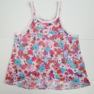 Chaser Tops - Chaser Colorful Floral Print Tank Top
