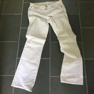 J. Crew boot cut jeans, white