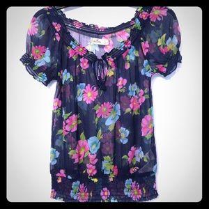 Floral chiffon Hollister shirt