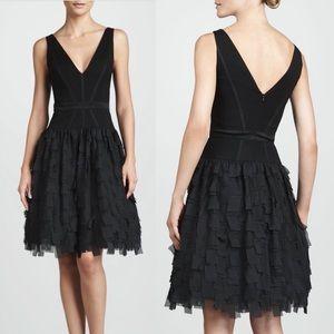 Aidan Mattox Dresses & Skirts - Aidan Mattox Black Tiered Fit and Flare Silk Dress