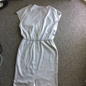 St John Woven Lined Dress Size 6 Light Grey