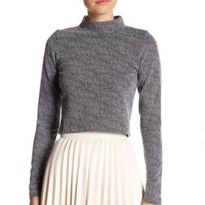 Necessary Objects Tops - 💥NWT💥 Necessary Objects Jacquard Knit Crop Top