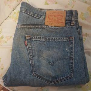 Levi's red tab 505 medium wash 36 x 30 mens jeans