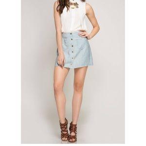 She +Sky Mini Skirt