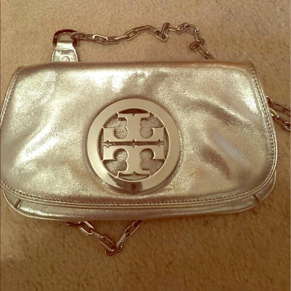 50416031dcb Tory Burch crossbody logo purse or clutch. M 591c77e556b2d63df7008f38