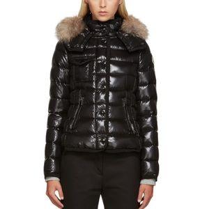 Moncler Jackets & Blazers - Black Nylon Moncler Armoise Coat