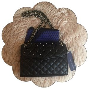New Rebecca Minkoff Quilted Mini Studded Affair