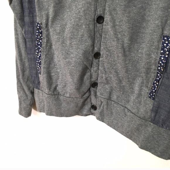 ASOS Shirts - izzue ASOS Chambray panel floral trim cardigan 4