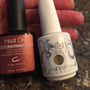 Gelish Other - Gelish polish and Creative heat activated Top Coat