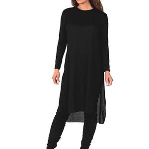 Rags and Couture Dresses & Skirts - Solid black side slit tunic dress