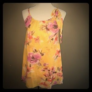 Sweet Pea Tops - Anthropologie Sweet Pea Yellow Floral Top