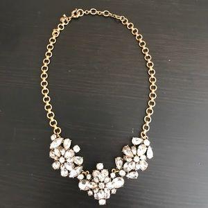 J. Crew Jewelry - J.Crew crystal flower necklace