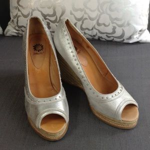Yellow Box Shoes - Yellow Box peep toe wedge espadrilles 8.5