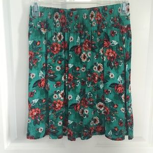 Frenchi Dresses & Skirts - Floral Turquoise Skirt purchased from Nordstrom BP