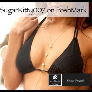 Sexy Body Chain Necklace Pearl Statement Jewelry