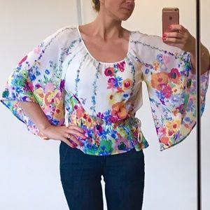 H&M Tops - H&M Bright Floral Blouson Top - sz 4