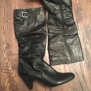 Nine West 9.5 Black Leather Boots ♠️