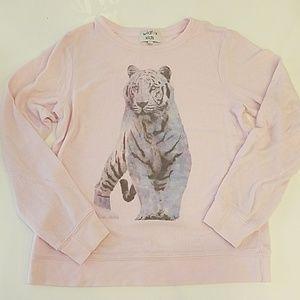 Wildfox Other - Wildfox Kids Girls pink tiger sweatshirt sz 12