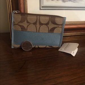 NWT Coach little keychain wallet/cardholder