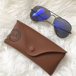 Ray-Ban RB3025 Large Mirror Aviator Sunglasses