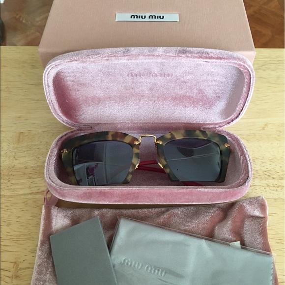 6c1b238c69f0 Miu Miu Accessories | Razor Cut Havana Frame Sunglasses | Poshmark