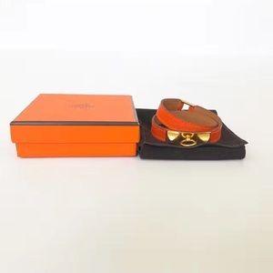 100% authentic Hermes leather bracelet