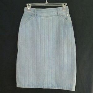 "SERGIO VALENTE Dresses & Skirts - RARE VINTAGE ""SERGIO VALENTE"" STRIPE DENIM SKIRT"