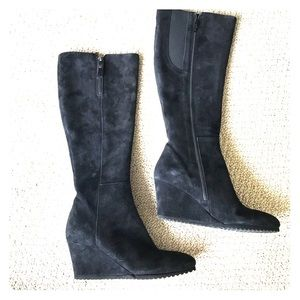 Agl Shoes - AGL- Frankie Black Suede Wedge Boot