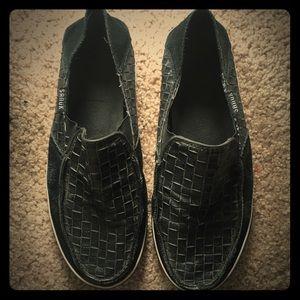 Sanuk Other - EUC Sanuk black Leather Slip on's (EUR 42).
