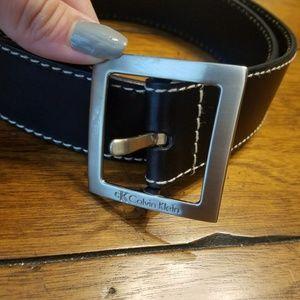 Closet clear out! Black Leather CK Belt