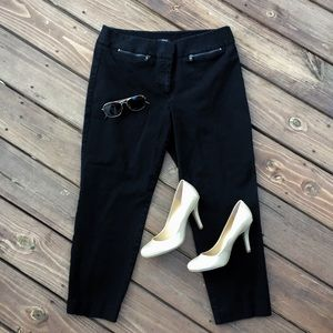 LOFT Julie Cropped Black Ankle Pants / Capris