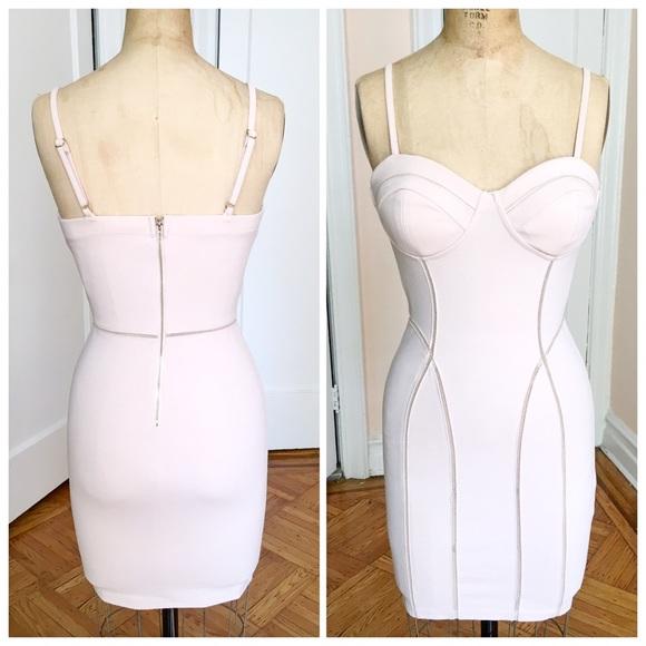 43a597231d66 boutique Dresses   Nude Bodycon Mini Dress With Cutout Design   Poshmark