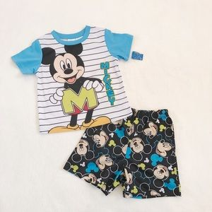 Other - NWT Mickey Mouse short sleeve / shorts PJ set 5T