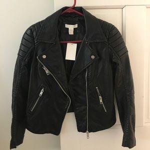H&M Jackets & Blazers - Faux leather Moto jacket