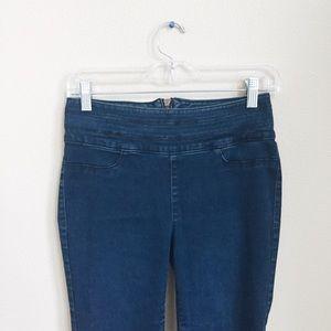 Tinseltown Denim - Pocketless zip-back jeggings
