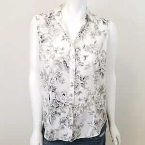 Talbots Tops - Talbots Floral Print Sleeveless Button Blouse