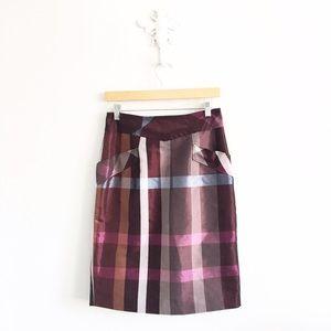 Anthropologie Dresses & Skirts - Yoanna Baraschi Anthropologie Purple Plaid Skirt